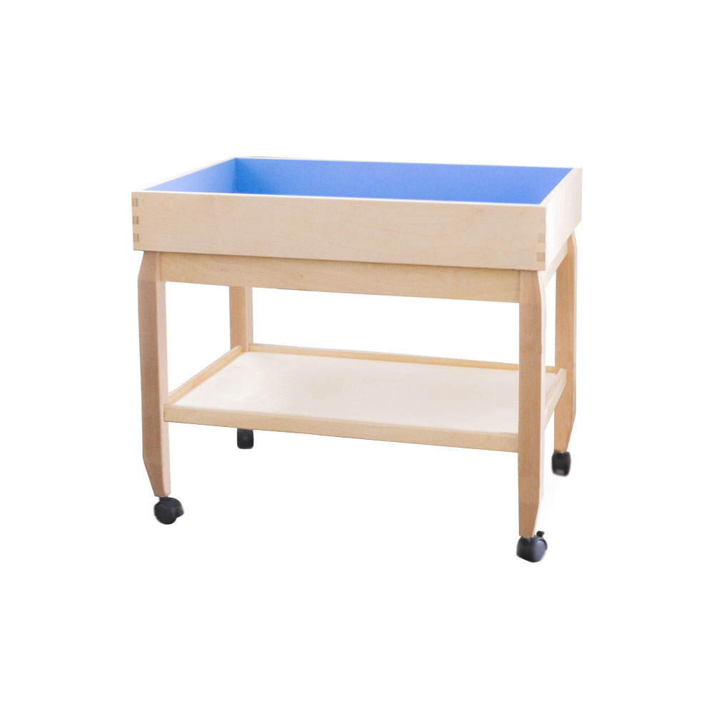 JAK Play Therapy Sand Tray, Lid And Stand, Shelf U0026 Loc.