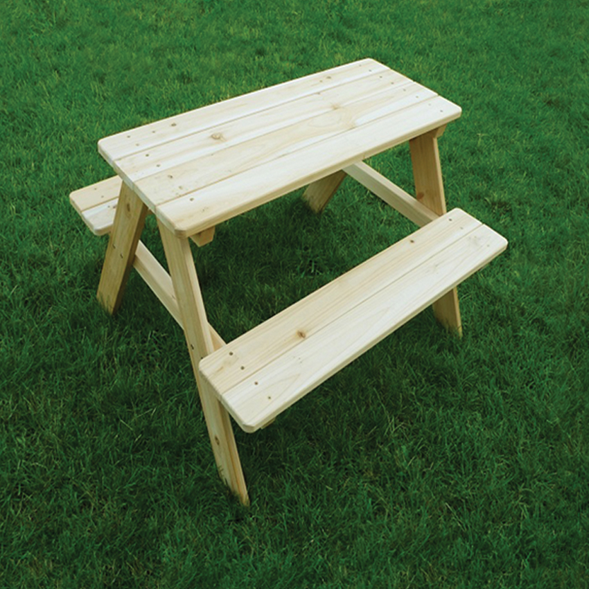 Wooden kids picnic table clickhere2shop for Wooden kids table