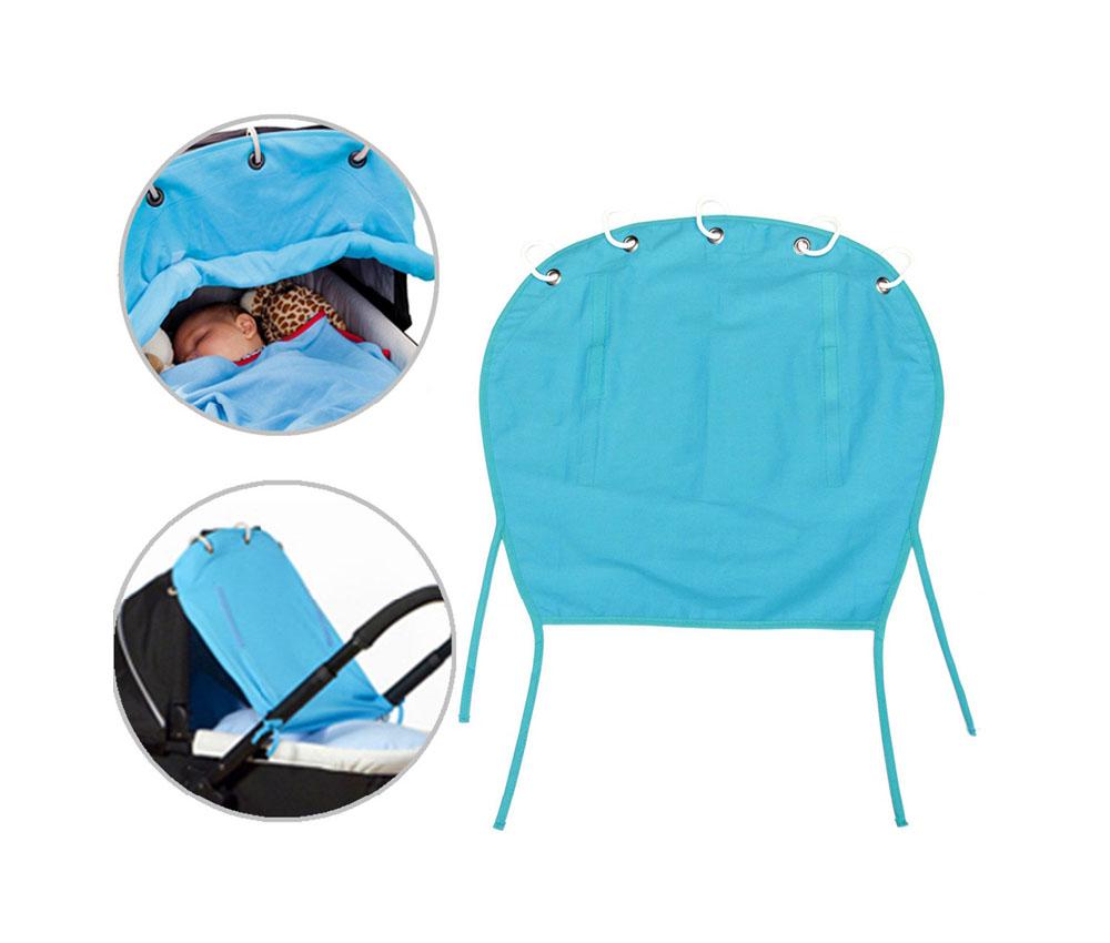 infant baby sunshade uv protective stroller car seat cover blue clickhere2shop. Black Bedroom Furniture Sets. Home Design Ideas